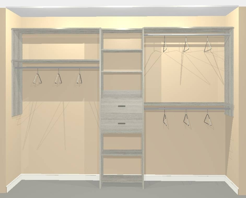 Long Hang With Two Shelves And Short Hang With One Shelf