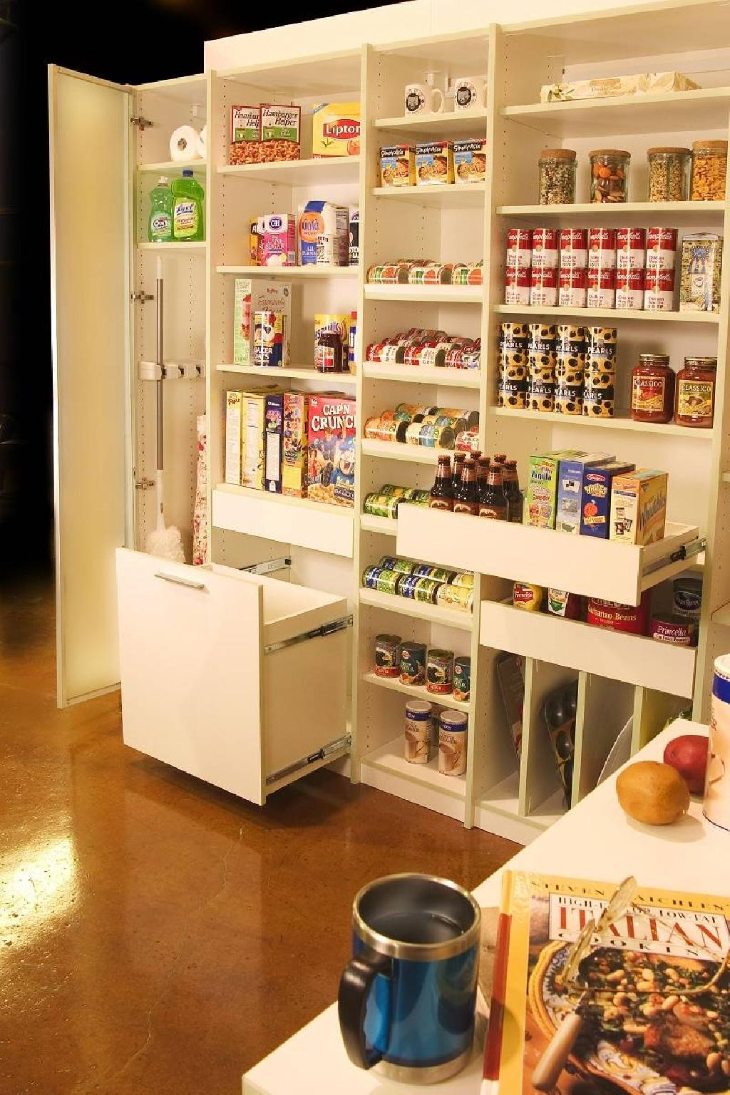 Closets to go pampered pantry organizer pantry storage for Kitchen closet