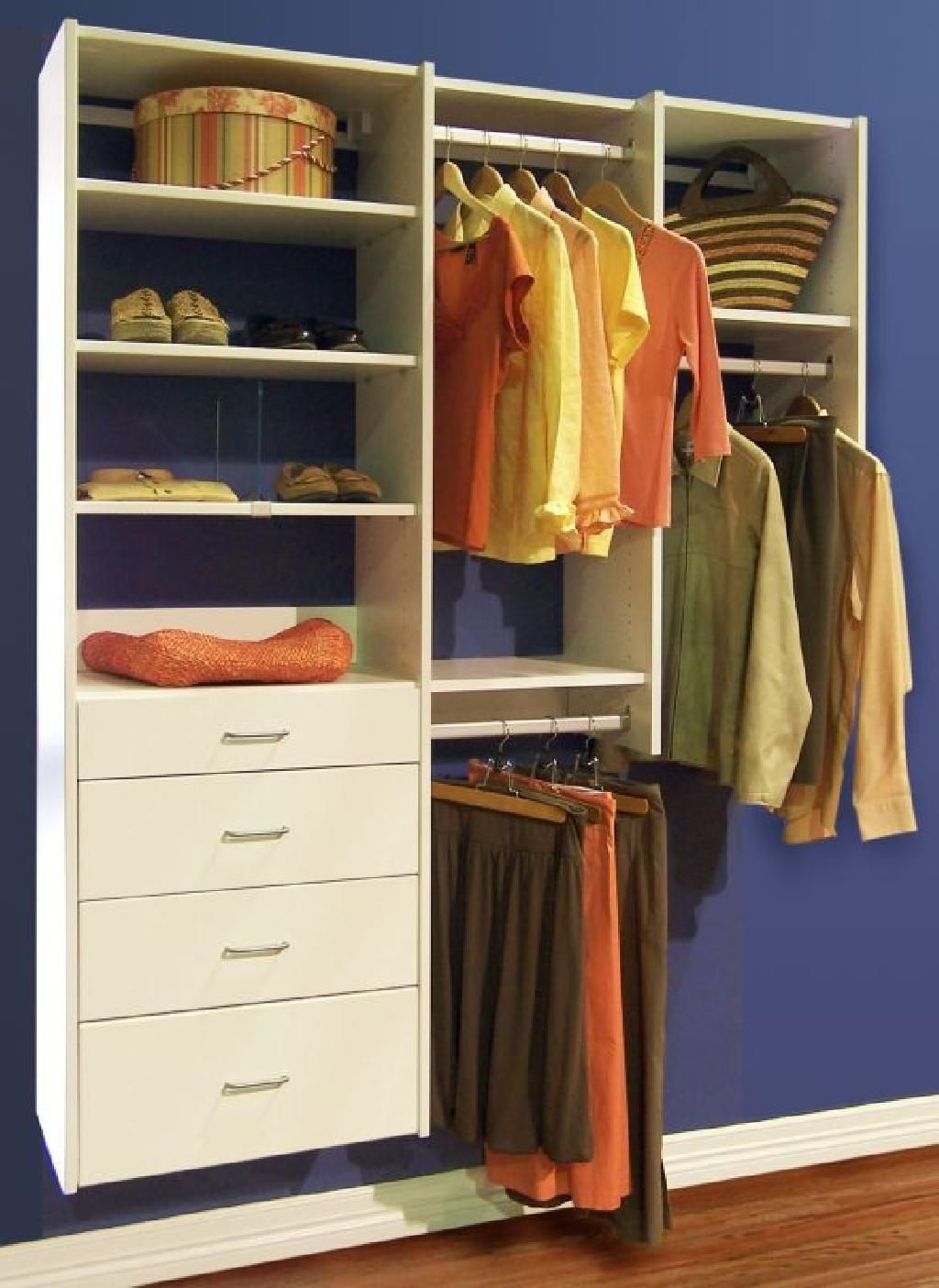 Closets to go simple reach in closet organizer custom for Online shelf design tool