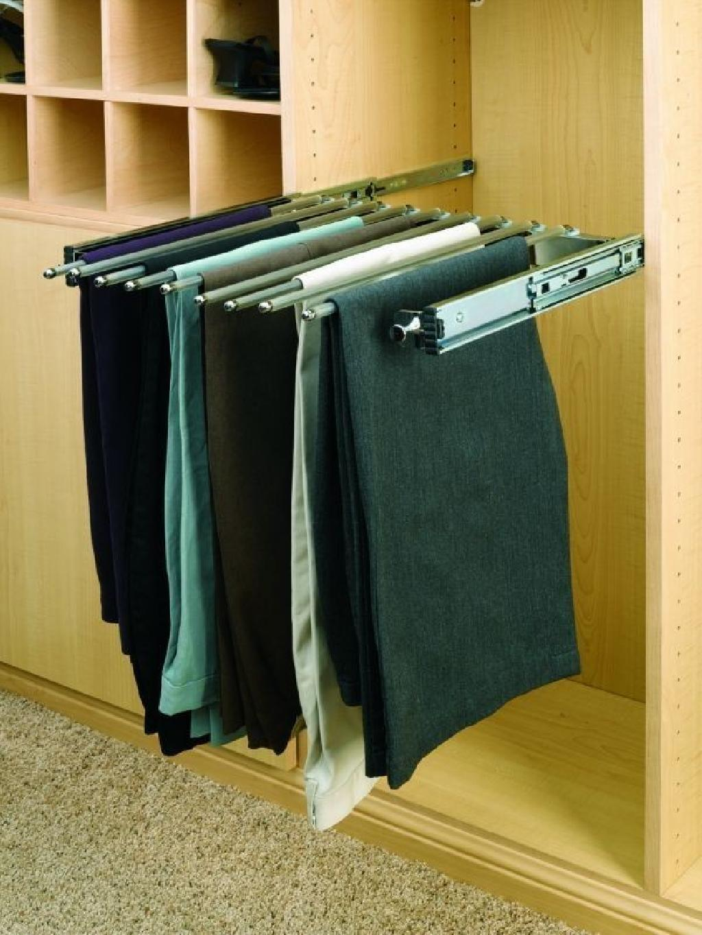 18 Pull Out Closet Organizer Pants Rack