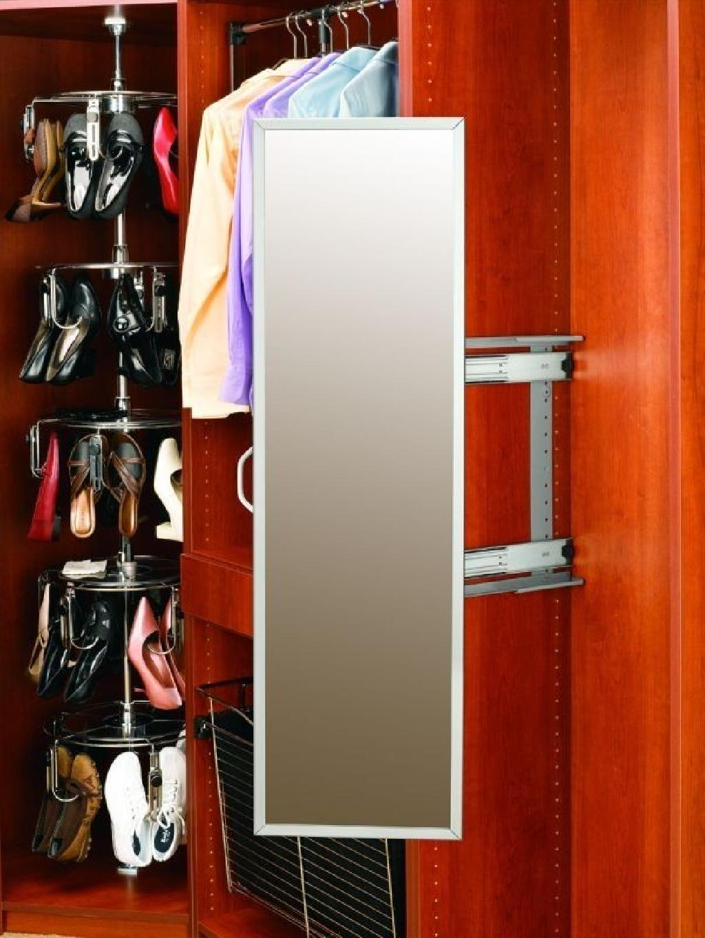 Pull Out Closet Organizer Mirror