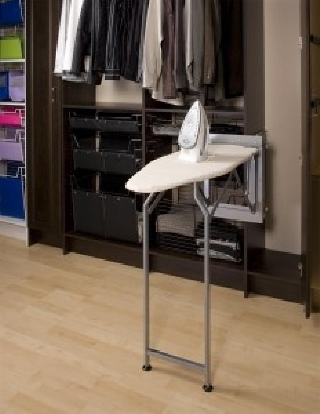 Sidelines pressing perfection ironing board closet for Iron closet storage