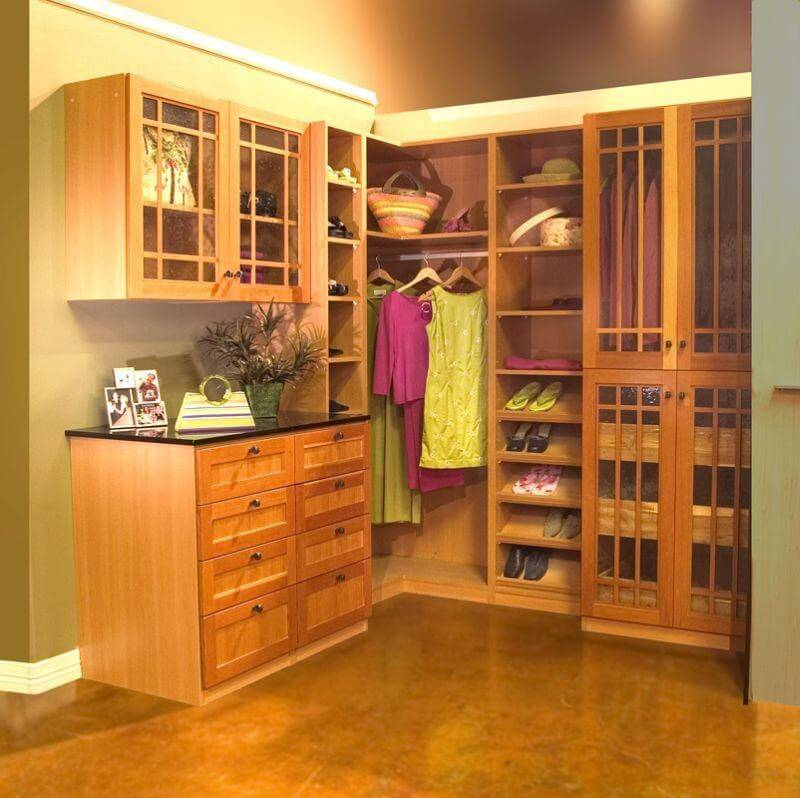 Closets to go wood master walk in closet organizer