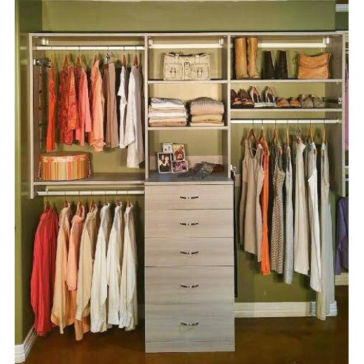 Walk In Closet Kits Hybrid Custom Closet Kit Hybrid Custom Closet Kit