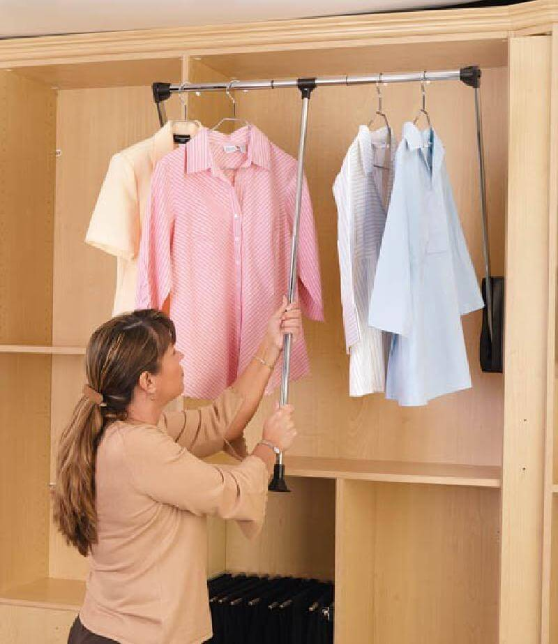 Pull Down Closet Organizer Wardrobe Tube