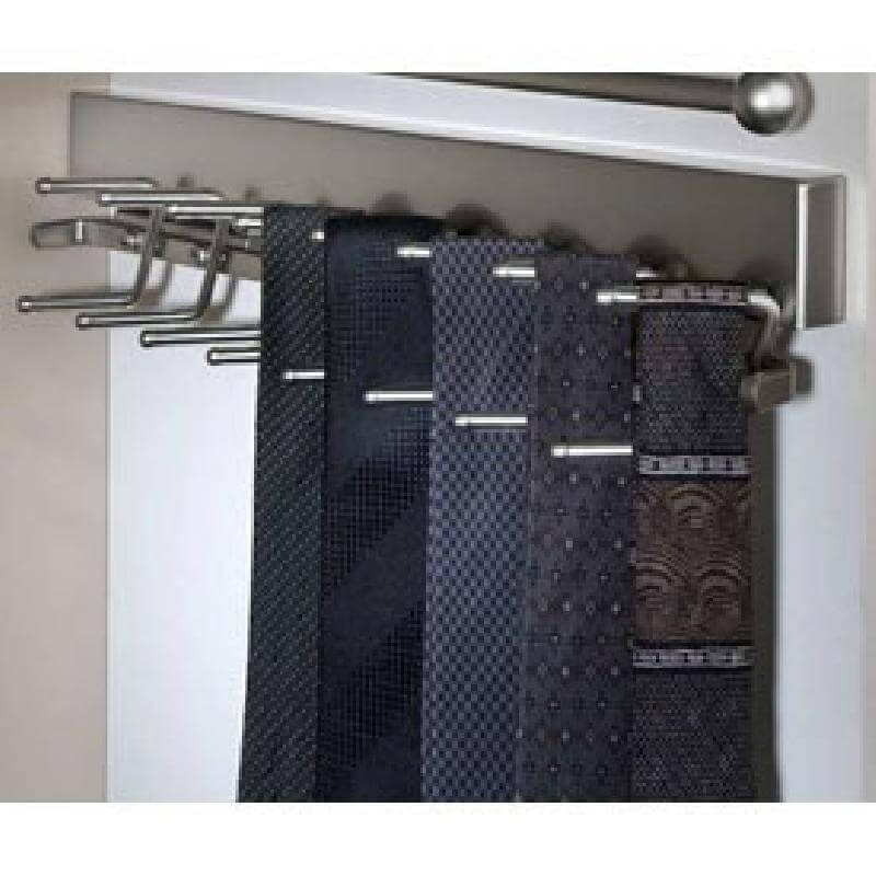 Sidelines Premier Series Tie Rack Satin Nickel
