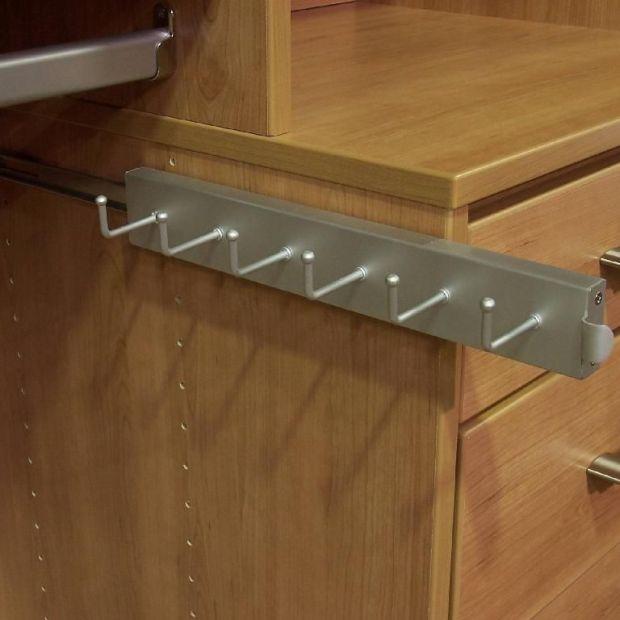Capella Satin Nickel Closet Belt Rack