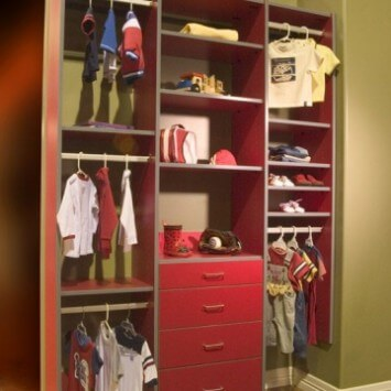 Nursery Reach In Closet Organizers