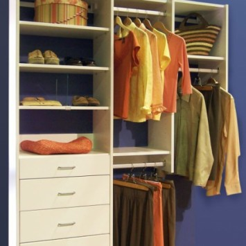 Closets to go Simple Reach In Closet Organizer