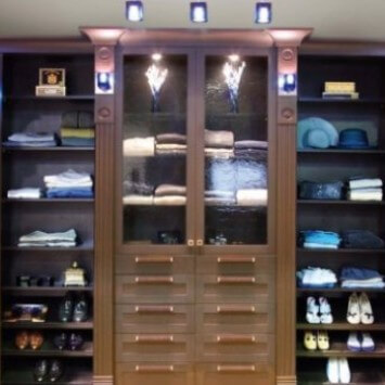 Custom closet organizers for wardrobes · pantry storage systems