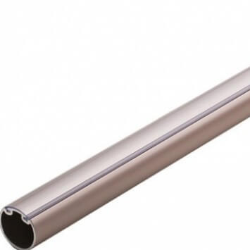 Round Satin Nickel Wardrobe Tube
