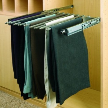 "18"" Pull Out Closet Organizer Pants Rack"