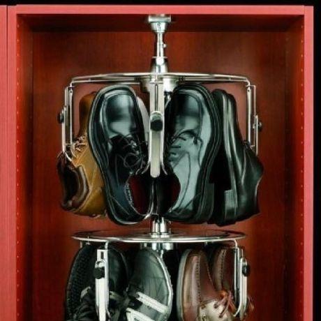 3 Shelf Mens Lazy Shoe-Zen with Shaft Close