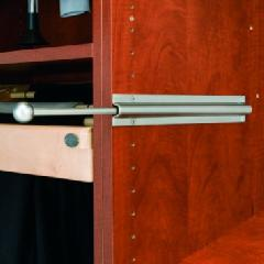 Capella Satin Nickel Valet Rod