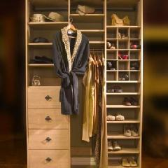 Closets to go her reach in closet organizer