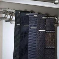 Premium Tie Rack in Satin Nickel