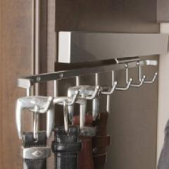 Sidelines Deluxe Series Belt Rack Satin Nickel