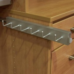 Capella Satin Nickel Closet Belt Rack